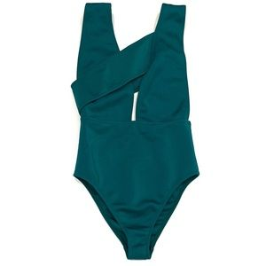 ASOS Green Bandage Swimsuit